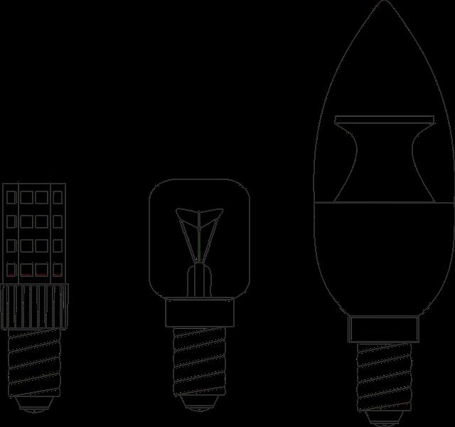nakreslené žárovky